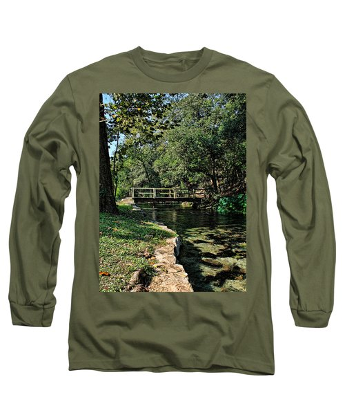 Bridge Of Serenity Long Sleeve T-Shirt by Judy Vincent