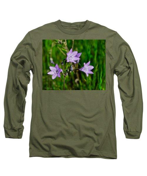 Long Sleeve T-Shirt featuring the photograph Bridges' Triteleia by Jim Thompson