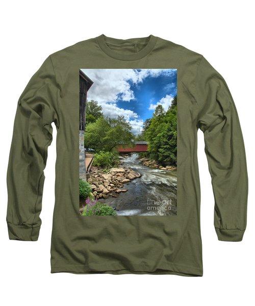 Bridging Slippery Rock Creek Long Sleeve T-Shirt