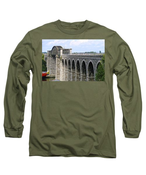 Bridging The Boyne Long Sleeve T-Shirt by Charlie and Norma Brock