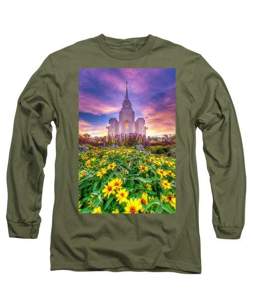Brigham City Temple Long Sleeve T-Shirt by Dustin  LeFevre