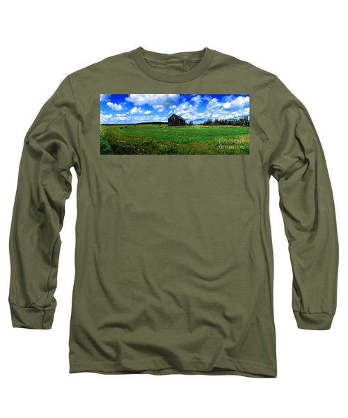 Brimley Farm Near  Sault Ste Marie Michigan  Long Sleeve T-Shirt