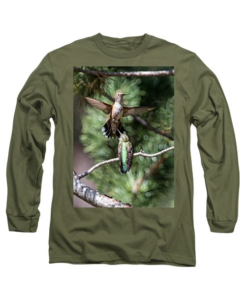 Broad-tailed Hummingbird Pair Long Sleeve T-Shirt