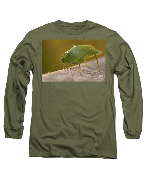 Broad-winged Katydid Long Sleeve T-Shirt