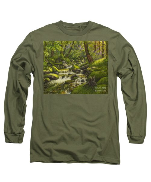 Brook In The Forest Long Sleeve T-Shirt