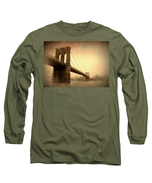 Brooklyn Bridge Nostalgia II Long Sleeve T-Shirt