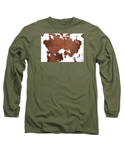 Long Sleeve T-Shirt featuring the photograph Brown Cowhide by Gunter Nezhoda