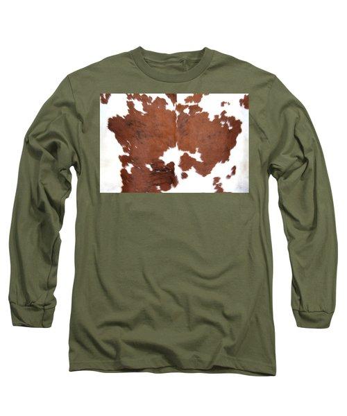 Brown Cowhide Long Sleeve T-Shirt