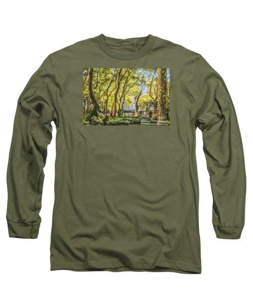 Bryant Park October Morning Long Sleeve T-Shirt
