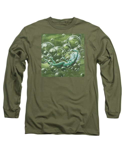 Bubbles Long Sleeve T-Shirt by Jack Malloch