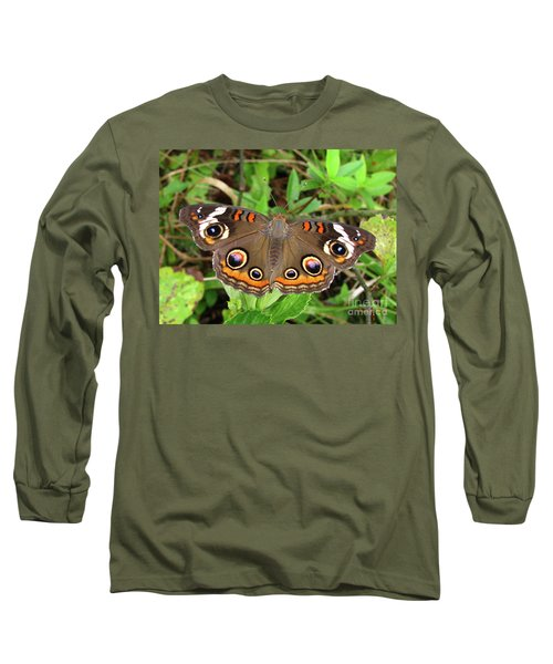 Long Sleeve T-Shirt featuring the photograph Buckeye Butterfly by Donna Brown