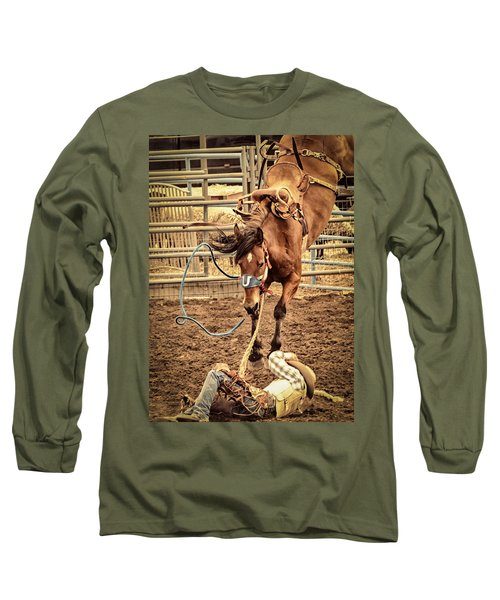Bucking Long Sleeve T-Shirt by Caitlyn  Grasso