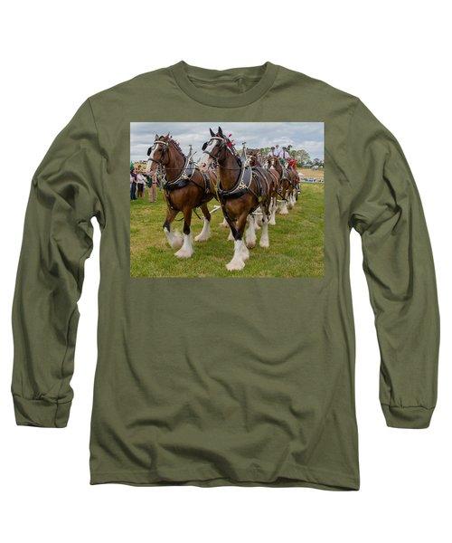 Budweiser Clydesdales Long Sleeve T-Shirt by Robert L Jackson