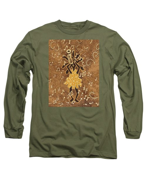 Bugle Player Long Sleeve T-Shirt by Katherine Young-Beck