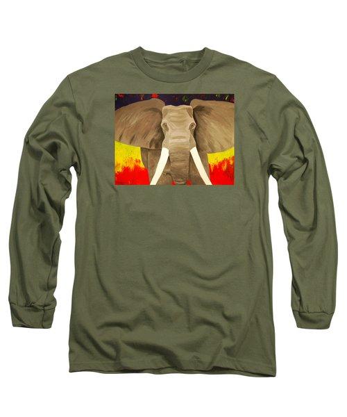Bull Elephant Prime Colors Long Sleeve T-Shirt