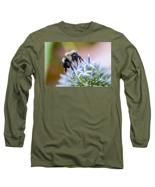Bumblebee On Thistle Blossom Long Sleeve T-Shirt