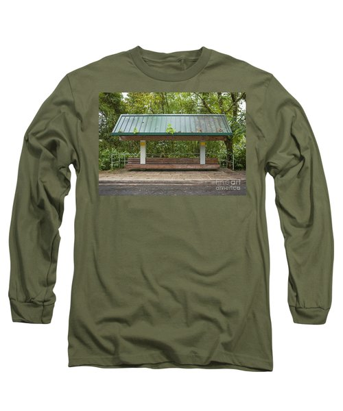 Bus Stop Bench In The Rainforest  Long Sleeve T-Shirt