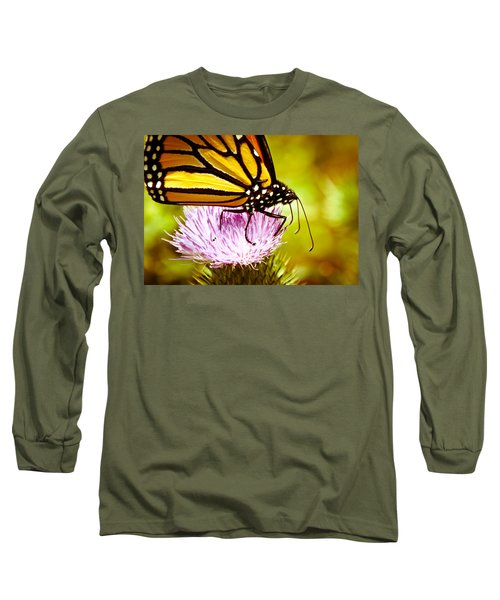 Long Sleeve T-Shirt featuring the photograph Busy Butterfly by Cheryl Baxter