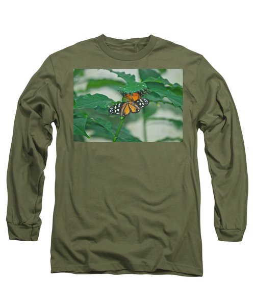 Long Sleeve T-Shirt featuring the photograph Butterflies Gentle Touch by Thomas Woolworth