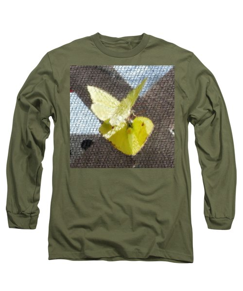 Long Sleeve T-Shirt featuring the photograph Sulfur Butterflies Mating by Belinda Lee