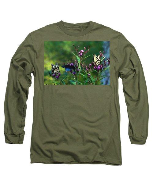 Butterflies Three Long Sleeve T-Shirt