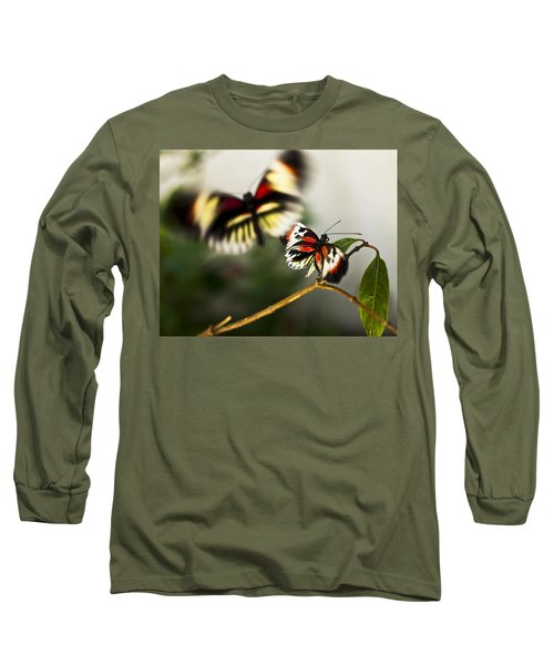 Butterfly In Flight Long Sleeve T-Shirt by Bradley R Youngberg
