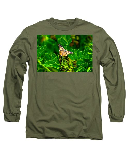 Butterfly In Paradise Long Sleeve T-Shirt
