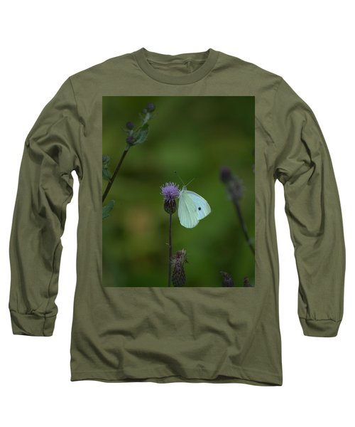 Butterfly In White 2 Long Sleeve T-Shirt