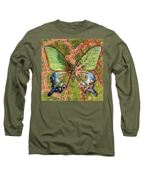 Butterfly Mosaic 03 Elena Yakubovich Long Sleeve T-Shirt