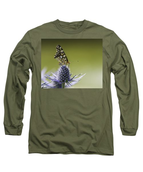 Butterfly On Thistle Long Sleeve T-Shirt