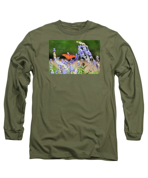 Butterfly With Message Long Sleeve T-Shirt