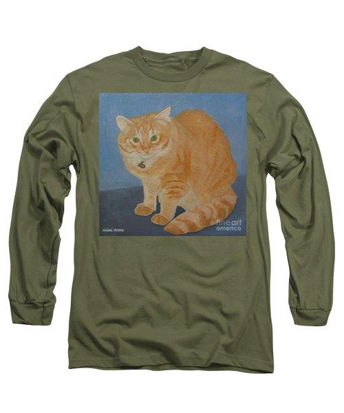 Butterscotch The Cat Long Sleeve T-Shirt by Mini Arora