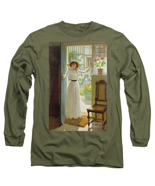 By The Cottage Door Long Sleeve T-Shirt