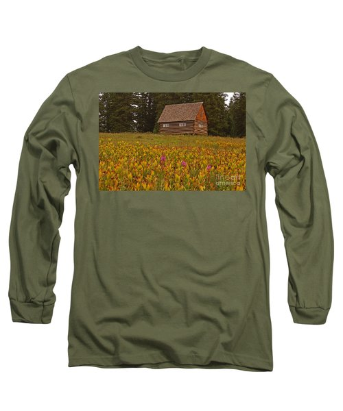 Cabin On Grand Mesa Long Sleeve T-Shirt