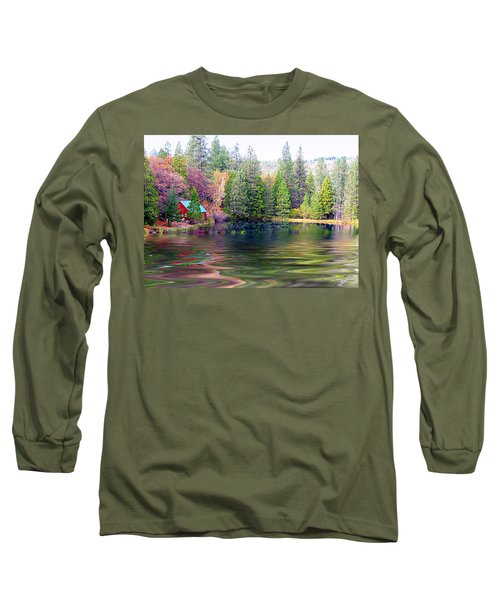 Cabin On The Lake Long Sleeve T-Shirt