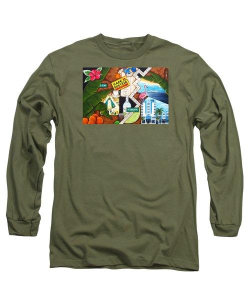 Cafe Miami Long Sleeve T-Shirt by Joseph Sonday