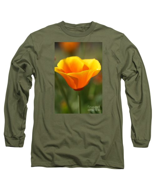 Long Sleeve T-Shirt featuring the photograph Californian Poppy by Joy Watson