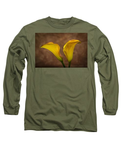 Long Sleeve T-Shirt featuring the photograph Calla Lilies by Sebastian Musial