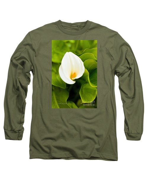 Calla Lily Plant Long Sleeve T-Shirt