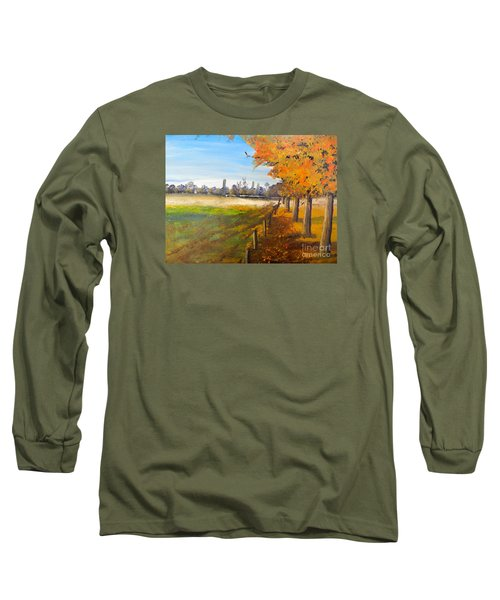 Long Sleeve T-Shirt featuring the painting Camden Farm by Pamela  Meredith