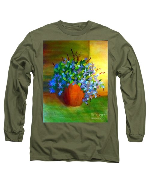 Campanula In Terra Cotta Long Sleeve T-Shirt by Desiree Paquette