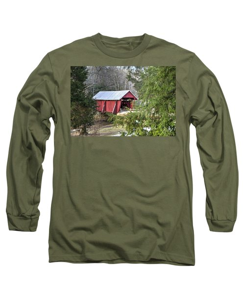 Campbell's Covered Bridge-1 Long Sleeve T-Shirt by Charles Hite