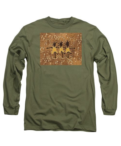 Can Can Dancers Long Sleeve T-Shirt by Katherine Young-Beck