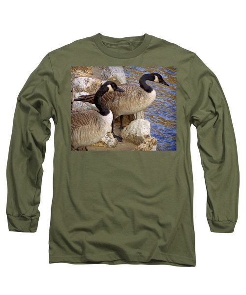 Long Sleeve T-Shirt featuring the photograph Canada Geese by Joseph Skompski