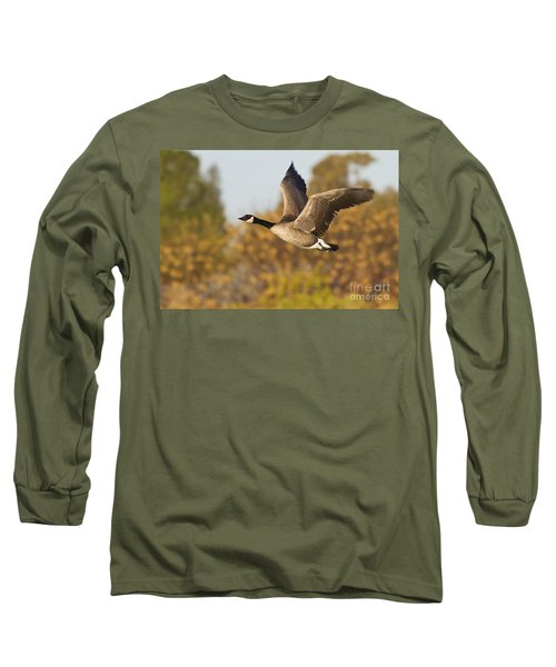 Canada Goose In The Skies  Long Sleeve T-Shirt
