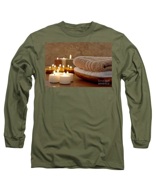 Candles And Towels In A Spa Long Sleeve T-Shirt