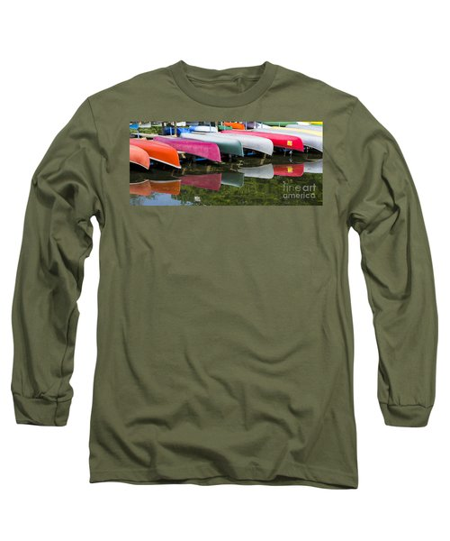 canoes - Lake Wingra - Madison  Long Sleeve T-Shirt