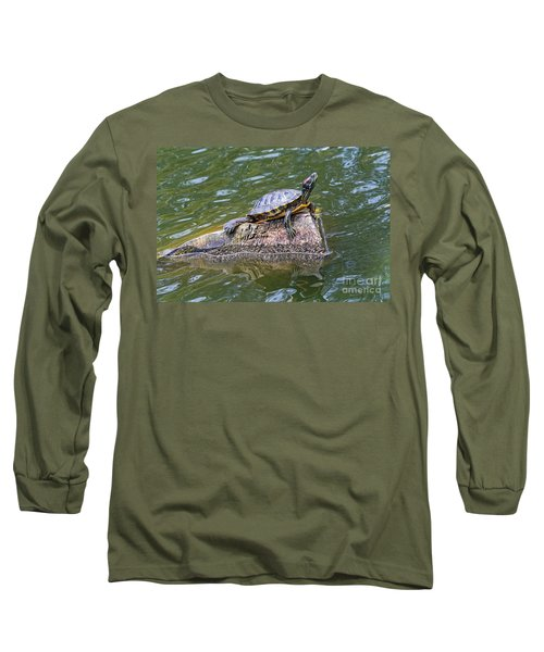 Long Sleeve T-Shirt featuring the photograph Captain Turtle by Kate Brown