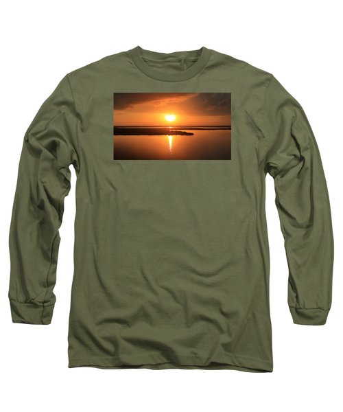 Long Sleeve T-Shirt featuring the photograph Caribbean Sunset by Milena Ilieva