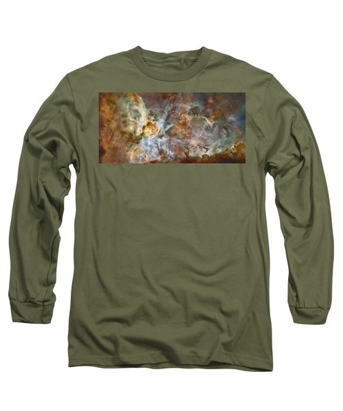 Carinae Nebula Long Sleeve T-Shirt by Sebastian Musial